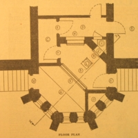 Diagram of the lethal gas chamber at Central Prison in Raleigh, N.C.