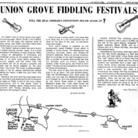 Union Grove Fiddling Festivals: Will the Real Fiddler's Convention Please Stand Up?