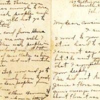 Letter from Ellen Brown to Margaret Blue