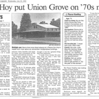 Union Grove: No Sign Remains of 70s Fame