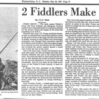 2 Fiddlers Make One Sound