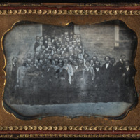 Daguerreotype of the sophomore class at the University of North Carolina, mid 1850s.