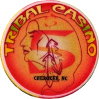 Tribal casino chip, Cherokee, NC 2002
