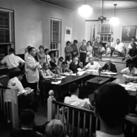Photograph of the Board of Aldermen's public meeting
