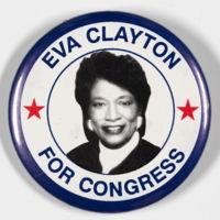 Eva Clayton button