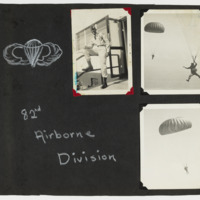 Photographs of African American soldiers in the 82nd Airborne Division in Albert Lockhart's album, 1961