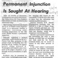 Permanent Injunction Is Sought at Hearing