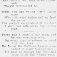 """Suffrage Jingles"" in the  ""Suffrage Edition,""  Charlotte Daily Observer, Sunday, November 1, 1914"
