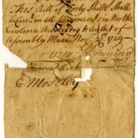 North Carolina 1729 paper money, 1729