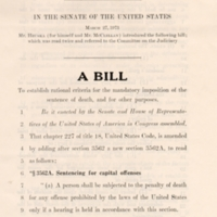 27 March 1973: U.S. Senate Bill S.1401. (detail)