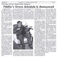 Fiddler's Grove Schedule is Announced