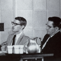 Photograph, Bob Spearman, and William C. Friday