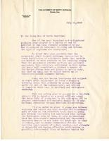Edward K. Graham to the Young Men of North Carolina