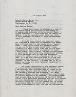 Letter: Susie Sharp to Sam Ervin Aug 28, 1970