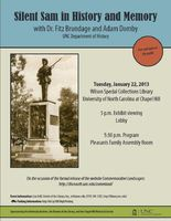 "Flyer for ""Silent Sam in History and Memory,"" 2013"