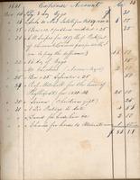 December 1841. Manuel Fetter Expense Book