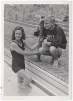 Elizabeth Prince Nufer and Coach Willis Casey, 1945