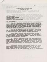 Letter: Sam Ervin to Lela Chesson, Feb 3, 1975