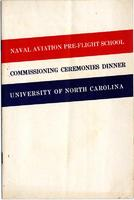 Naval Aviation Pre-Flight School Commissioning Ceremonies dinner program