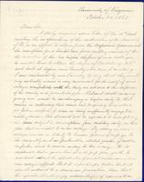 Socrates Maupin to President Swain