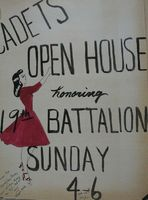 Cadets open house poster