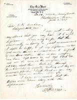 Charles Spurgeon Harris to Edward K. Graham