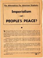 Imperialism or People's Peace? flyer