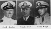 Commanders Kessing, Graff and Raugh